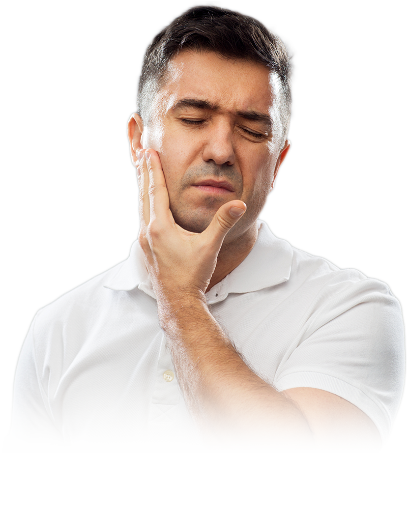 patient in pain because of dental implant failing