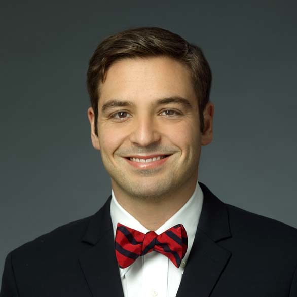 Dr. Shank smiling in a bow tie